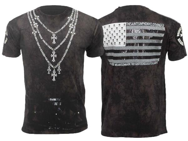 新作【THE SAINTS SINPHONY/セインツシンフォニー】THE LIFE・Tシャツ(半袖・CREWネック・ブラック・BLK)/メンズ【インポート】【セレカジ】【正規品】