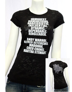【e.vil/イーヴィル】ホロスコープストーンTシャツ (LEO/獅子座)(ブラック・BLK)/レディース【インポート】【セレカジ】【正規品】