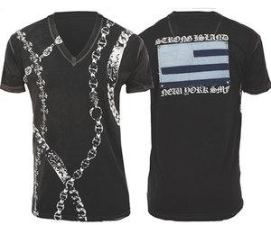 人気沸騰ブラドン 【THE SAINTS SINPHONY/セインツシンフォニー】SNIDER・Tシャツ(半袖・V ネック・ブラック・BLK)/メンズ【インポート】【セレカジ】【正規品】, インテリア用品専門店Lucca 98341f13