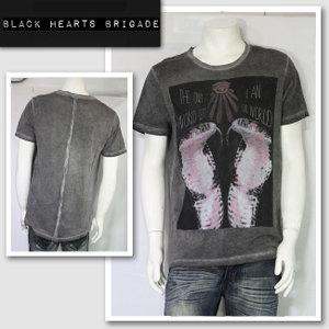 新作 LAセレブ着用 雑誌掲載【BLACK HEARTS BRIGADE/ブラックハーツブリゲード】FUTURE VISION Tシャツ(グレー・GRY)/メンズ【インポート】【セレカジ】【正規品】
