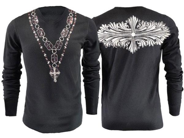 新作【THE SAINTS SINPHONY/セインツシンフォニー】DAGGERS POINT・Tシャツ(長袖・ブラック・BLK)/メンズ【インポート】【セレカジ】【正規品】