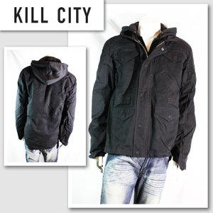 新作 LAセレブ着用 雑誌掲載【KILL CITY/キルシティ】パーカーセットジャケット(ブラック・BLK)/メンズ【インポート】【セレカジ】【正規品】