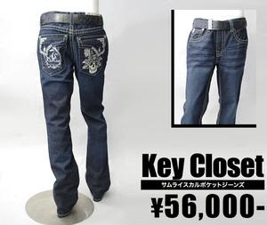 【KEYCLOSET/キークローゼット】サムライスカルポケットジーンズ(デニム・DNM)/メンズ【インポート】【セレカジ】【正規品】