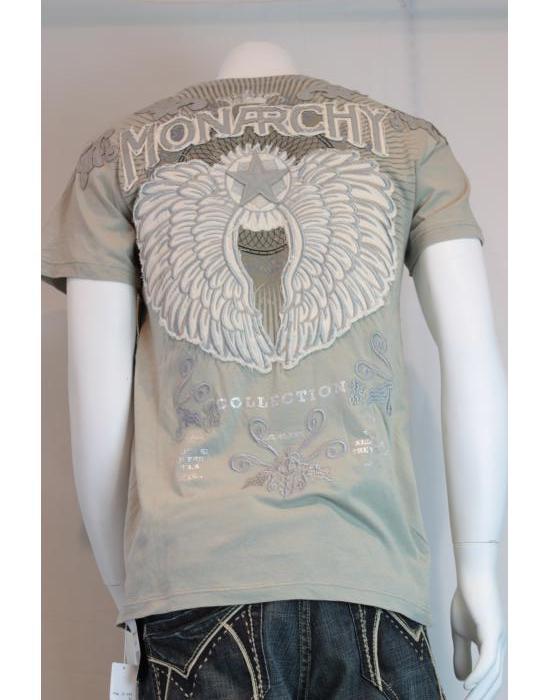 【MONARCHY/モナーキー】ウィングTシャツ(カーキ・KHA)/メンズ【インポート】【セレカジ】【正規品】