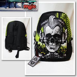 【Mojo Backpacks/モジョバックパックス】モヒカンスカルバックパック(ブラック・BLK)【インポート】【セレカジ】【正規品】