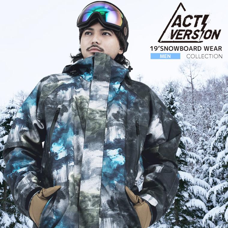 【発売中】2018-2019 メンズ 新作スノーボードウェア 上下セット スノボウェア スノーボードウェア メンズ  スノーボード スノボ ウェア スキーウェア スノボーウェア ウエア ジャケット パンツ 上下セット ACTI スノボウェア