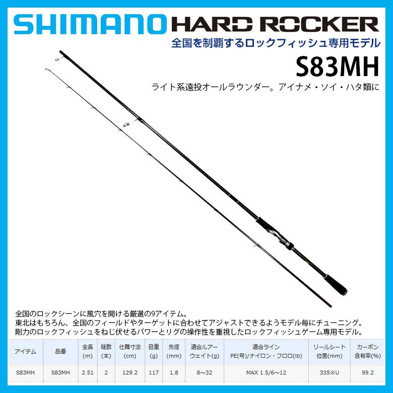 [SHIMANO 竿/シマノ] HARDROCKER S83MH ハードロッカー S83MH 38764 6 釣り 6 釣り 竿 ロッド シマノ ロックフィッシュ, ABYSS&HABIDECOR:9d055744 --- sunward.msk.ru