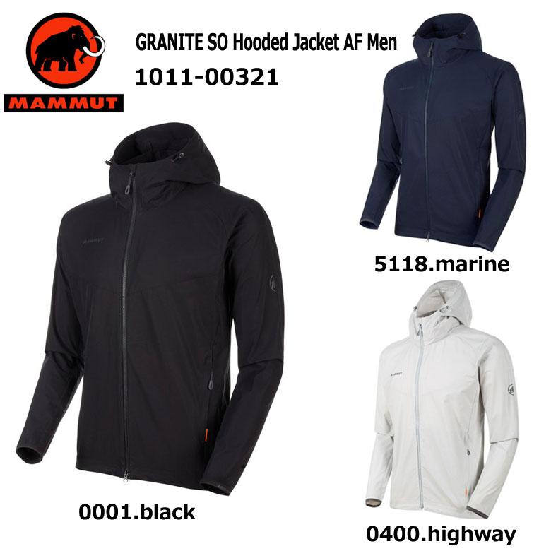 【お取り寄せのため納期1週間~2週間】MAMMUT/マムート[GRANITE SO Hooded Jacket AF Men]1011-00321