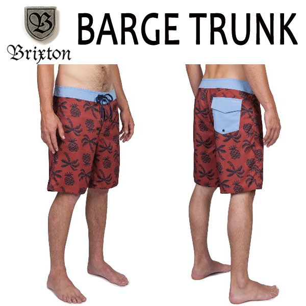 BRIXTON, Brixton / 2016 SPRING model /BOARDSHORTS, Board shorts, surf trunks, swimsuit /BARGE TRUNK/BURGUND-Burgundy / 28-30.32 inches 20