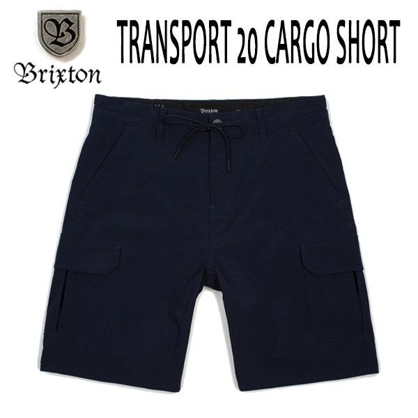 BRIXTON、ブリクストン/18SU/水陸両用/ボードショーツ・ショーツ/TRANSPORT 20 CARGO SHORT/NVY・ネイビー/28・30インチ/メンズ/カーゴパンツ/アウトドア 【あす楽 対応】