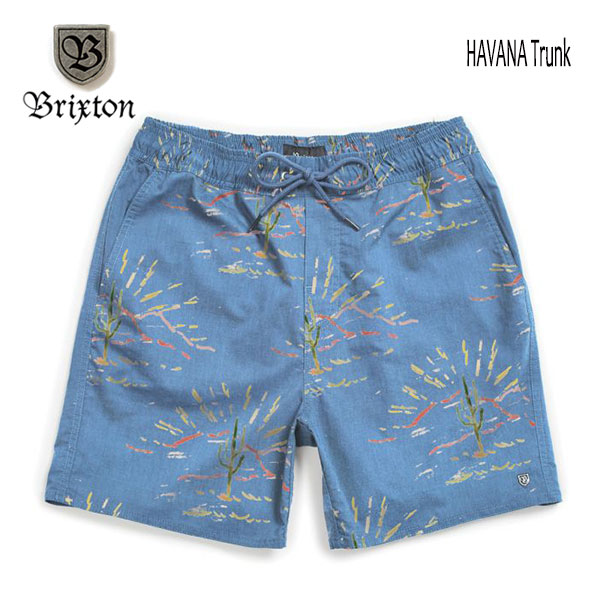 BRIXTON,ブリクストン/20SP/水陸両用/BOARDSHORTS・ボードショーツ・サーフトランクス・水着/HAVANA TRUNK/SLATE BLUE CACTUS・ブルー/メンズ/総柄