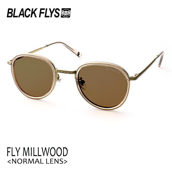 BLACKFLYS,ブラックフライ/19/FLY MILLWOOD,フライミルウッド ノーマルレンズ/BF-1601-05/C.BEIGE-GOLD/BROWN/サングラス/ユニセックス/ラウンド 【あす楽 対応】
