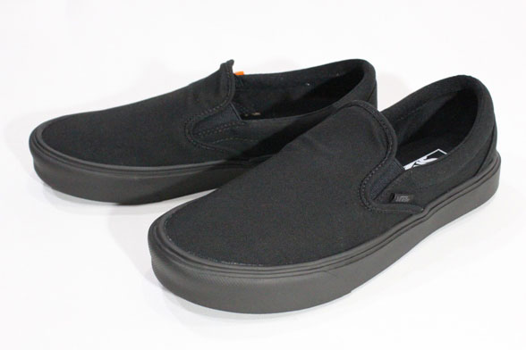 Vans vans / 2016 SPRING-CLASSIC + us planning, Japan – /SLIP-ON LITE +, slip -on light plus / (CANVAS) BLACK/BLACK / black / ultra light 10P06Aug16