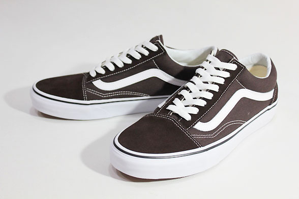 konkretna oferta świetne oferty nowe tanie Vans vans /18FA, LIFESTYLE/OLD SKOOL, old school /CHOCOLATE TORTE/TRUE  WHITE, dark brown / canvas / suede / skating / sneakers