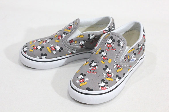 vans disney mickey slip on