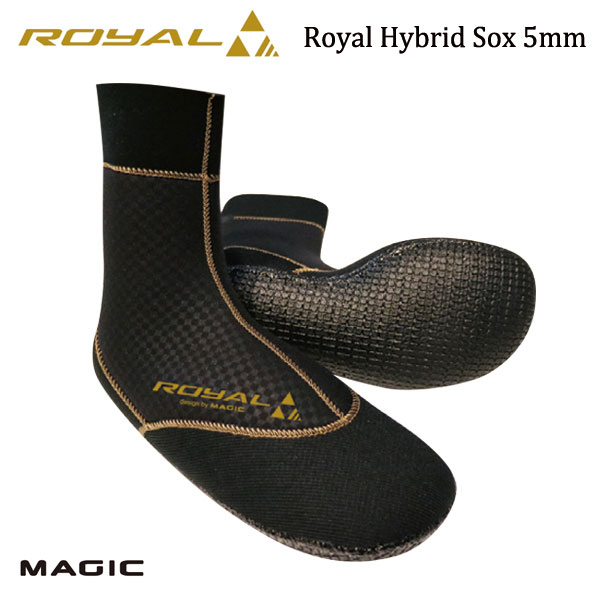 MAGIC,マジック/5mm ROYAL HYBRID SOX/ウォーターブロック/先丸タイプ・サーフソックス/サーフブーツ/サーフィン/防寒対策/冬用/起毛/18-19モデル/サイズ6展開 【あす楽 対応】