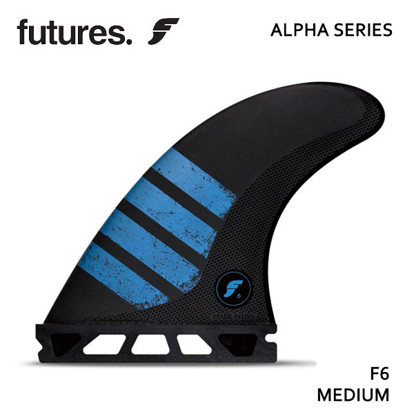 Future Fin,フューチャーフィン/FIN,トライフィン/スタンダードサイズ/ALPHAシリーズ/ALPHA F6/CARBON/CARBON/BLUE/Mサイズ/65-88kg /サーフィン/サーフボード【あす楽 対応】