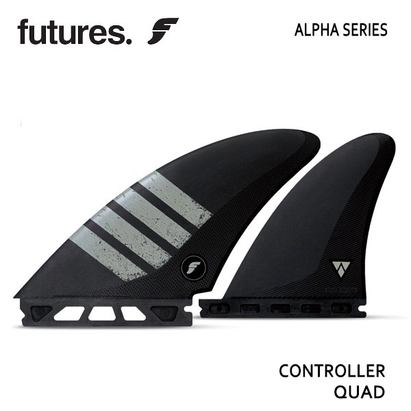 Future Fin,フューチャーフィン/FIN,QUAD/4フィン/ALPHAシリーズ/ALPHA CONTROLLER/CARBON/GREY 【あす楽 対応】