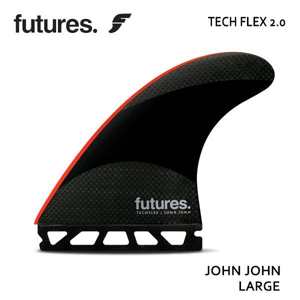 Future Fin,フューチャーフィン/トライフィン/John John Florenceシグネチャー/TECHFLEX 2.0 JOHN JOHN/BLACK/RED/Lサイズ/ショートボード/サーフィン/日本正規代理店品 【あす楽 対応】