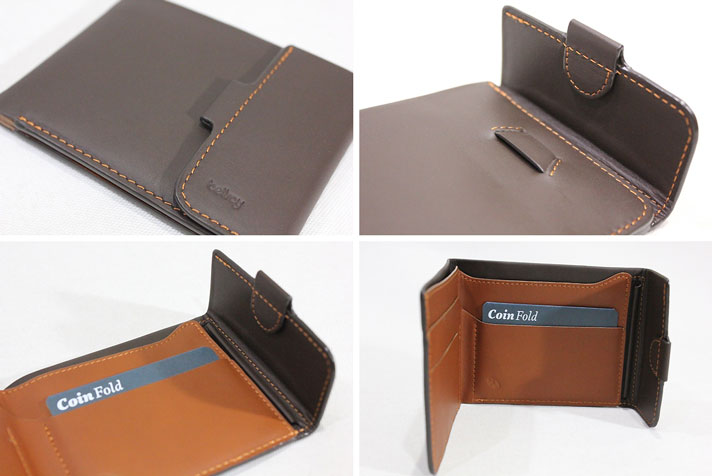 56c5c5a9c9 BELLROY, belroy / wallet, fold type purses with slim wallet /COIN FOLD  WALLET/WCFB/JAVA / dark brown