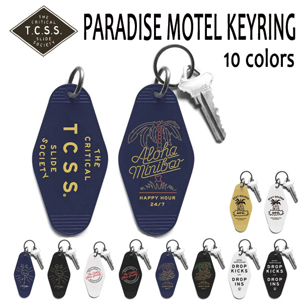 TCSS, tie sheets es / 2016 SPRING / Keychain KEYRING key ring /PARADISE MOTEL and KEY15-01/10 color P08Apr16