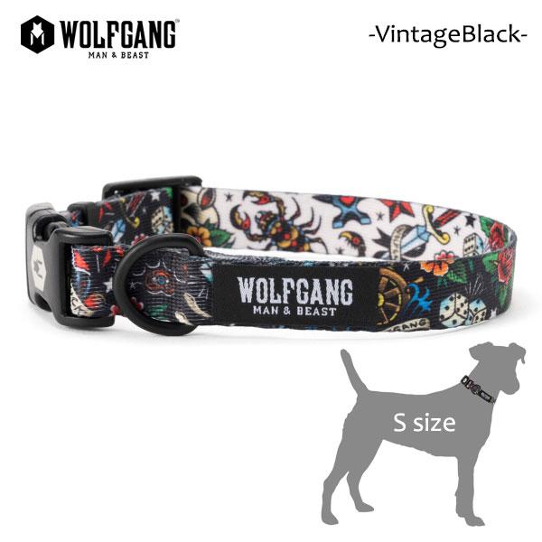 ネコポス 日時指定 代引き不可 新作製品 世界最高品質人気 アメリカ発ライフスタイルブランド 新作送料無料 犬用首輪 WOLFGANG MAN BEAST ウルフギャング 犬用 Sサイズ VintageBlack MADE タトゥー 首輪 AMERICAN スカル 小型犬 COLLAR 21
