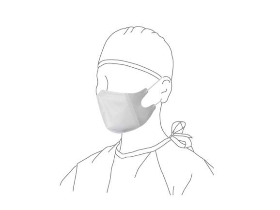 ★送料無料★ディスポ3Dマスク・ゴムひもタイプ - L ゴムひも 20箱/1000枚入 AWL