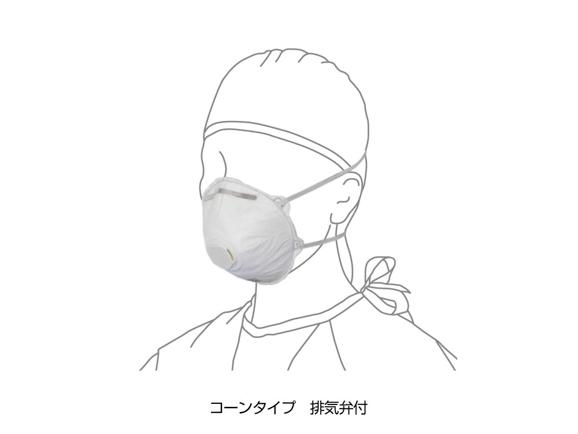 ★送料無料★N95マスク - コーンタイプ 排気弁付 20箱/200個入 AWL