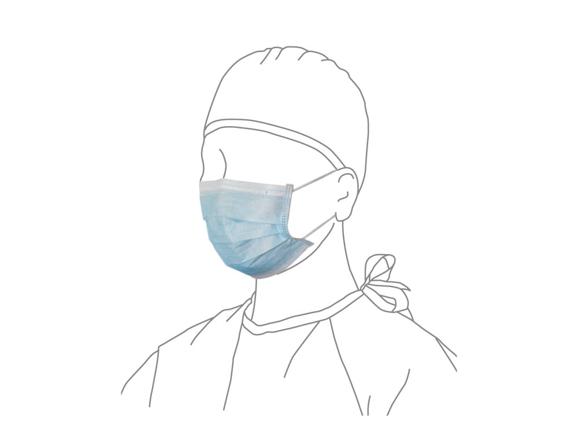 ★送料無料★サージカルマスク - 青色 17.5 × 9.5cm 40箱/2000枚入 AWL