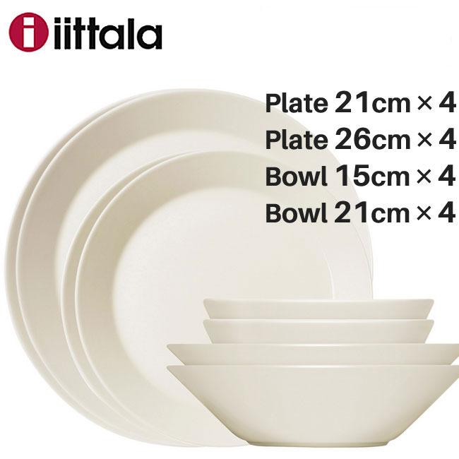 Iittala イッタラ Teema ティーマ スターターセット16pcs ホワイト(プレート・ボウルの16点セット)/ 北欧 食器 ギフト 御祝