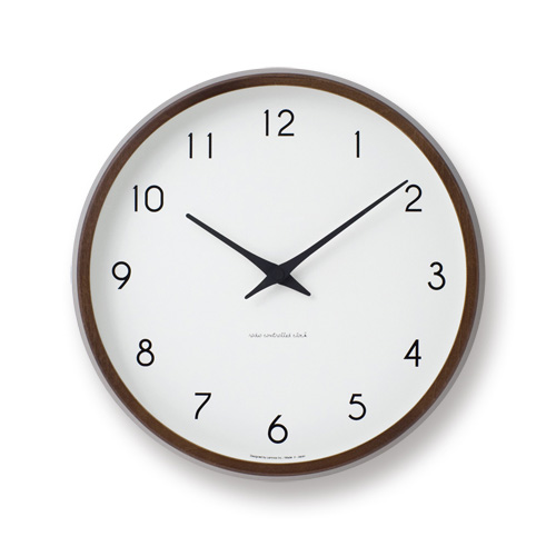 電波時計 壁掛時計 Lemnos レムノス PC10-24W BW Campagne ブラウン / 掛け時計 新築祝い 引越し祝い タカタレムノス KO-3【送料無料・あす楽対応】
