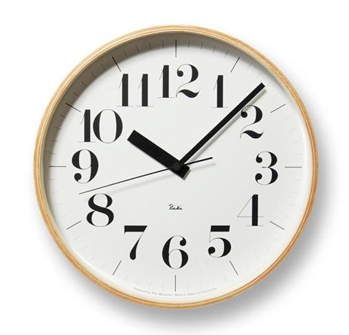 【送料無料・あす楽対応】Lemnos レムノス WR08-27 Riki Clock RC L ナチュラル / 電波時計 壁掛時計 掛け時計 新築祝い 引越し祝い タカタレムノス KO-3