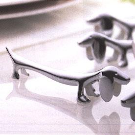 テーブルマナーがスマートに! SALUS セーラス ダックスフント型ナイフレスト / カトラリー置き フォークレスト スプーンレスト[SL]【ゆうパケットなら10個迄送料200円】