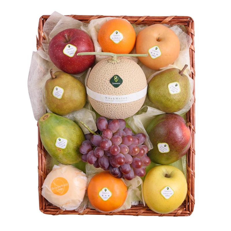 定価 千疋屋の果物 日本橋 公式 千疋屋総本店 かご入 8 季節の果物詰合