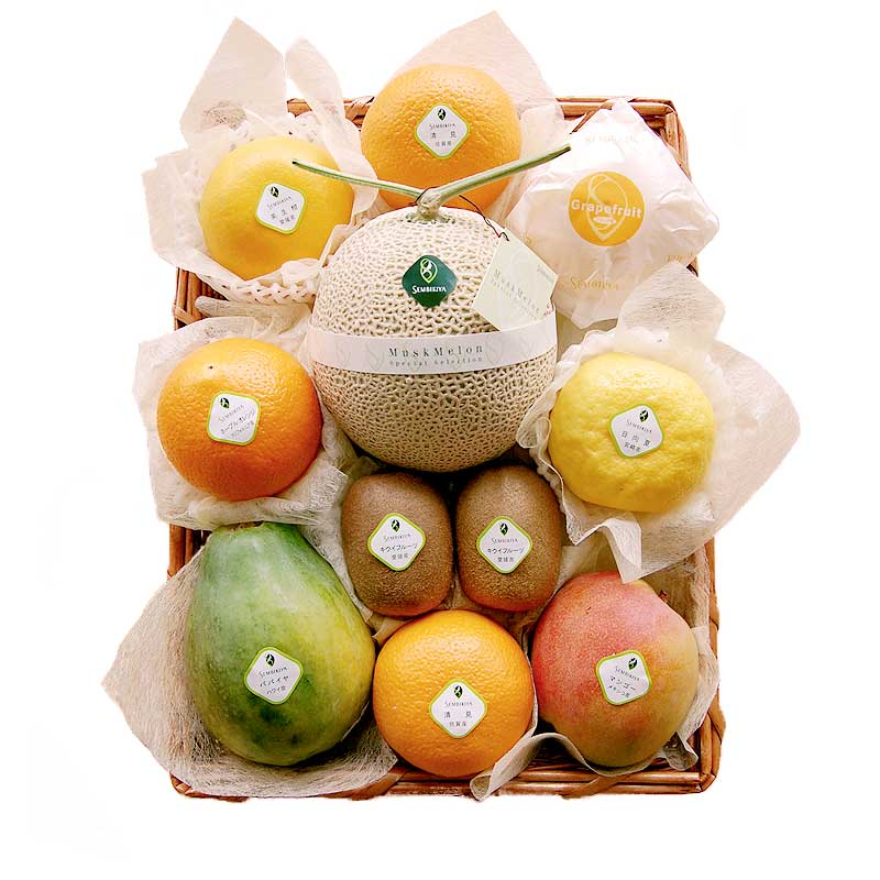 日本橋 千疋屋総本店 公式 季節の果物詰合(7) かご入