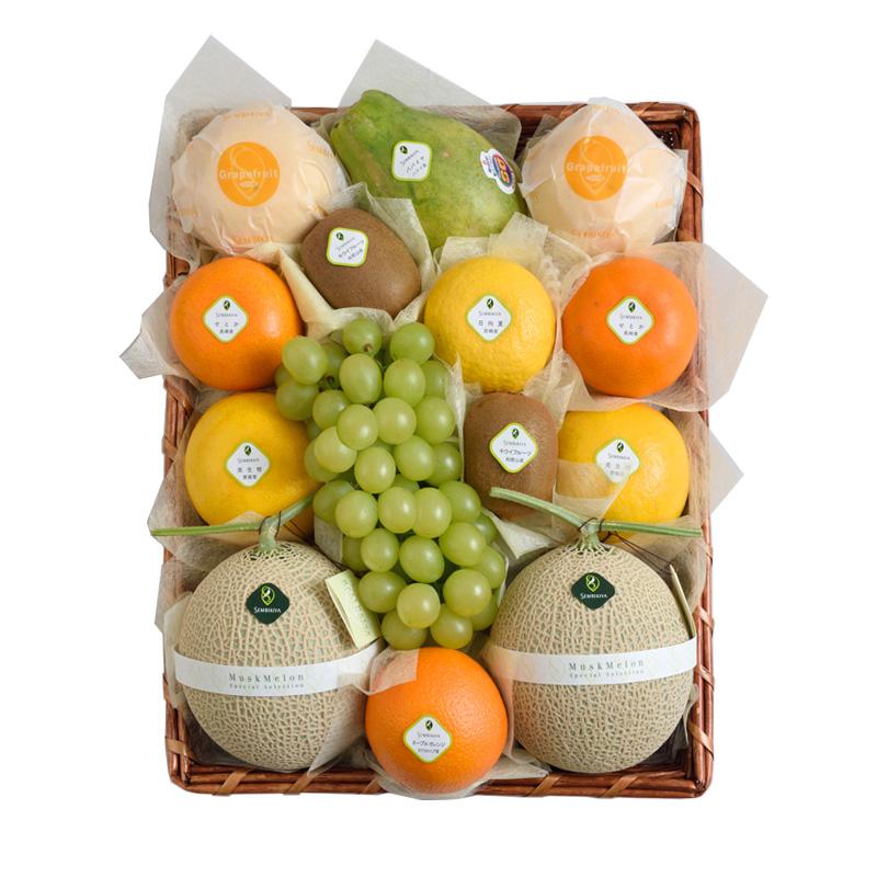 日本橋 千疋屋総本店 公式 季節の果物詰合(8) かご入