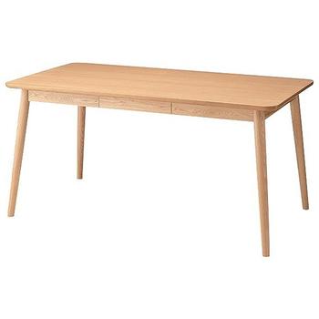 漂うナチュラル感♪ 引き出し付き ダイニングテーブル 単品 【送料無料】 激安 天然木 安い 格安 木製 テーブル ダイニング おしゃれ ナチュラル 引き出し付きダイニングテーブル