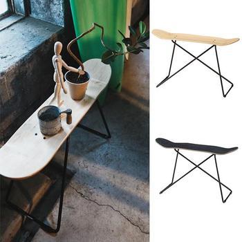 スケートボード好きに♪ サイドテーブル SUKEBO 【送料無料】 ユニーク おしゃれ 木製 コンソール おもしろ家具 サイドテーブル ソファー ベッド 玄関 飾り台 送料無料 安い おもしろテーブル ユニーク