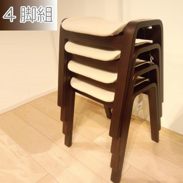 お買い得4脚セット♪ スタッキングスツール 木製 【送料無料】 スタッキングチェア 補助椅子 積み重ね サブチェアー 曲げ木 おしゃれ 4脚 安い 格安 ダイニングスツール