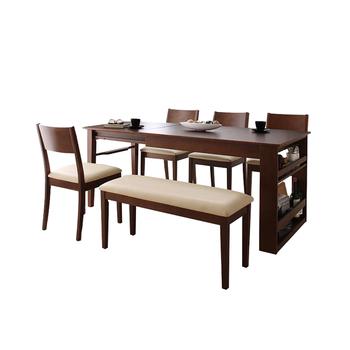 7点セット 伸縮テーブル 激安 ダイニング 伸びるテーブルと回転チェア