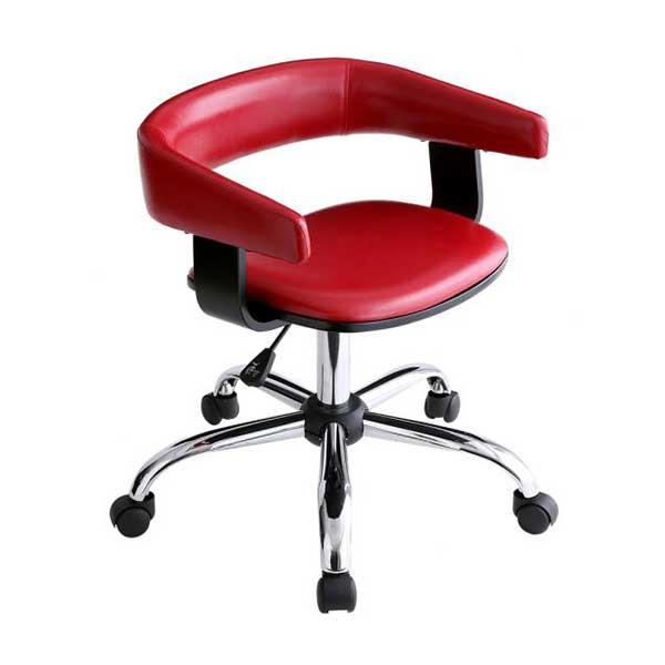 寛ぎすぎないおしゃれ感♪ デスクチェア【送料無料】 オフィスチェア キャスター付き 椅子 合皮 レザー 回転椅子 赤 白 黒 おしゃれ 安い キャスター付き オフィスチェア レザー