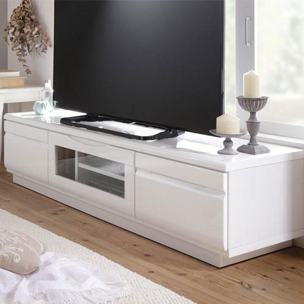 ベーシックが新しい♪ 鏡面ホワイト テレビ台 幅150 完成品 【送料無料】 テレビボード ローボード ルーター収納 おしゃれ 可愛い 安い 北欧 白 60インチ 60型 60V