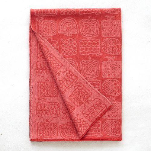 ウールストール Kajyuen レッド OTTAIPNU 割り引き クリスマス オッタイピイヌ クリスマスプレゼント 信憑 プレゼント