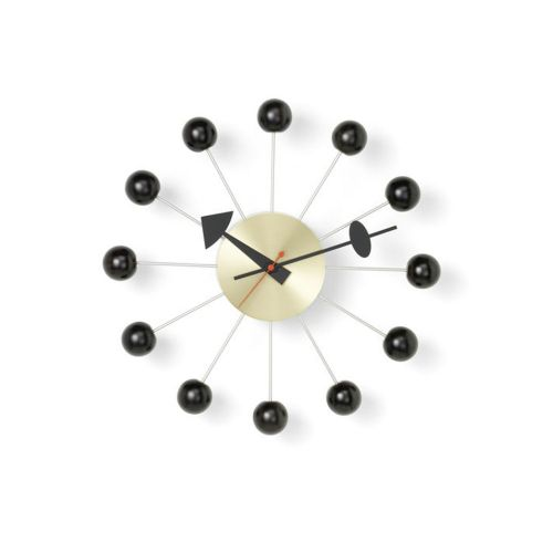 ボールクロック ブラック×ブラス / Ball Clock (vitra ヴィトラ) 【送料無料】【smtb-F】