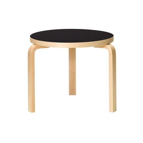 テーブル90D / ブラック φ48×H44cm (Artek / アルテック) 【送料無料】【smtb-F】