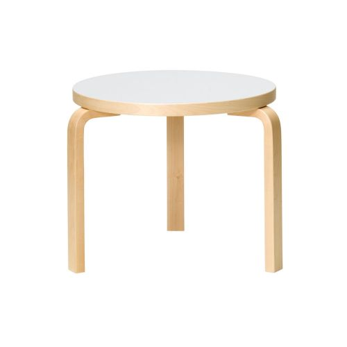 テーブル90D / ホワイト φ48×H44cm (Artek / アルテック) 【送料無料】【smtb-F】