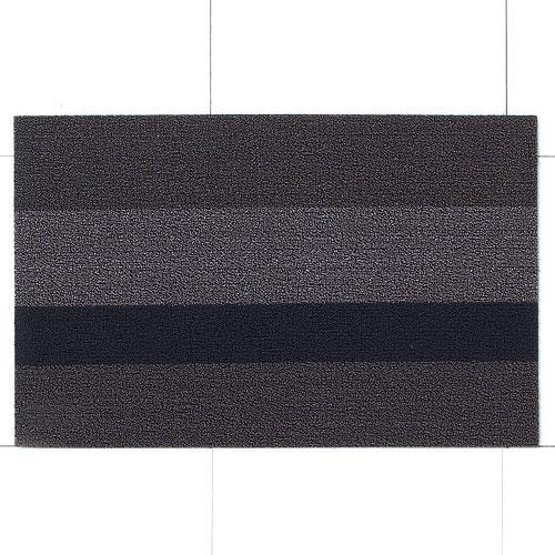チルウィッチ 玄関マット シャグ ボールドストライプ/ シルバー×ブラック (Chilewich / Shag Bold Stripe) 【送料無料】【smtb-F】