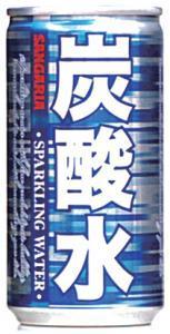 サンガリア 炭酸水 缶 185gx1ケース(30本)