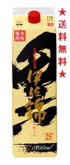 【送料無料】黒伊佐錦 芋焼酎 25度 1800mlパックx6本