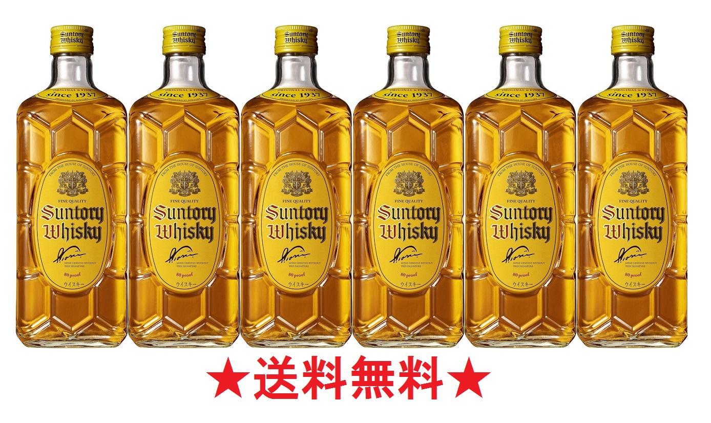 【送料無料】サントリーウイスキー 角瓶 40度 700mlx6本